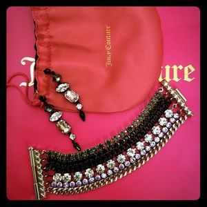 Juicy Couture earrings and bracelet